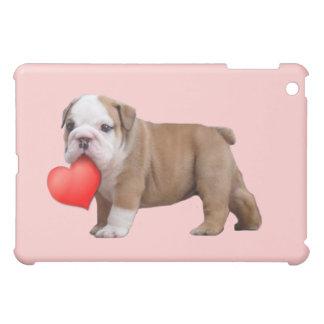 バレンタインのブルドッグの子犬のipadのSpeckの場合 iPad Mini Case