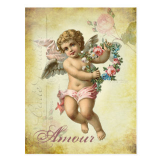 バレンタインの天使-恋愛 ポストカード