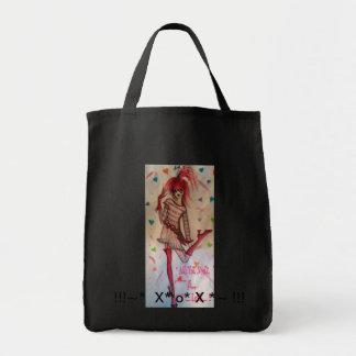 バレンタインの女の子のカンディーのハート、!!! ~*のX*のo* Xの*~!!! トートバッグ