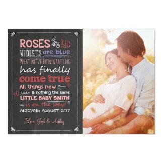 バレンタインの妊娠の発表カード期待 カード