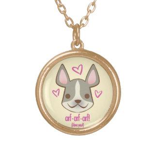 バレンタインの子犬- Frenchie: ネックレス
