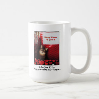 バレンタインの子猫キスをするなブースのマグ コーヒーマグカップ