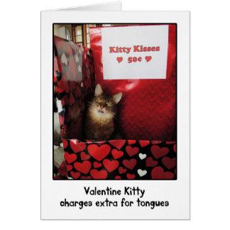 バレンタインの子猫キスをするなブースの挨拶状 カード