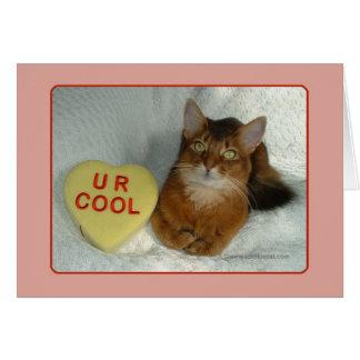 バレンタインの子猫U Rのクールなカード カード