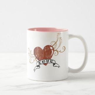 バレンタインの愛 ツートーンマグカップ