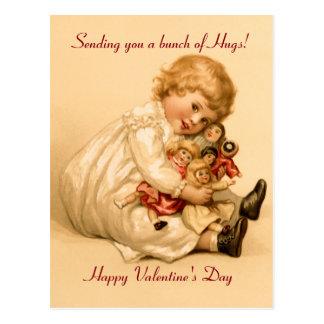 バレンタインの抱擁 ポストカード