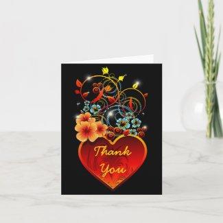 バレンタインの花のハート愛notecard グリーティング・カード