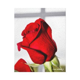 バレンタインの赤いバラ キャンバスプリント