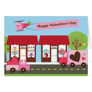 バレンタインの通り5x7の挨拶状 カード