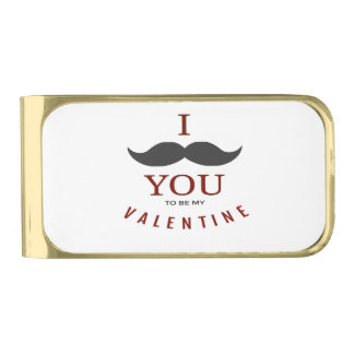 バレンタインの髭のギフト ゴールド マネークリップ