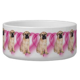 バレンタインのbullmastiff犬ボール