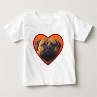バレンタインのbullmastiff ベビーTシャツ