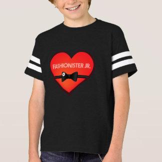 バレンタインのFashionister Jr.のフットボールの男の子のティー Tシャツ