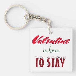 バレンタインはここにkeychainをとどまることいます キーホルダー