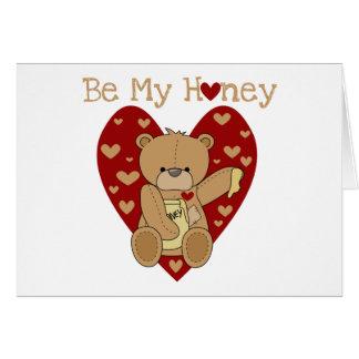 バレンタインは私の蜂蜜のTシャツおよびギフトです カード