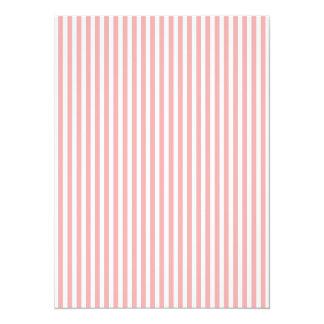 バレンタインは赤面のピンクおよび白で縞で飾ります カード