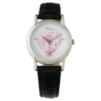 バレンタインは、ハートの花見ます 腕時計