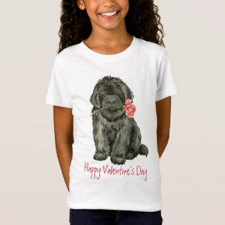 バレンタインばら色のニューファウンドランド Tシャツ