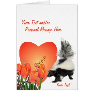 バレンタインをカスタマイズ容易なスカンク カード