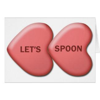 """バレンタインカードを""""スプーンでつごう"""" カード"""