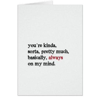 バレンタインカード。 あなたは常に私の心で。 折られる カード