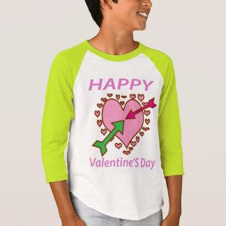 バレンタインデーのギフトのロマンチックなハートnの矢のおもしろい tシャツ