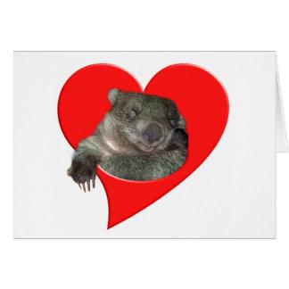 バレンタインデーのギフト、Wombat愛! カード