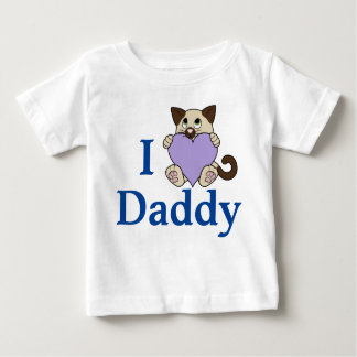 バレンタインデーのシャム猫-薄紫のハート ベビーTシャツ