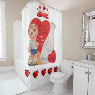 バレンタインデーのシャワー・カーテン シャワーカーテン
