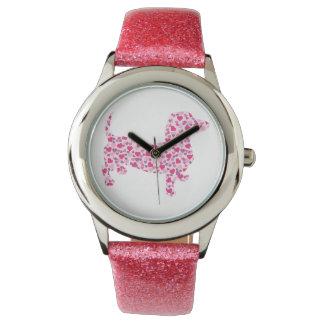 バレンタインデーのダックスフント 腕時計