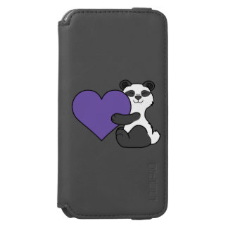 バレンタインデーのデキセドリン錠のかわいいパンダくま INCIPIO WATSON™ iPhone 6 財布ケース