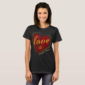 バレンタインデーのナッシュビルの女性のワイシャツ Tシャツ