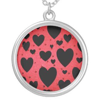 バレンタインデーのネックレス シルバープレートネックレス