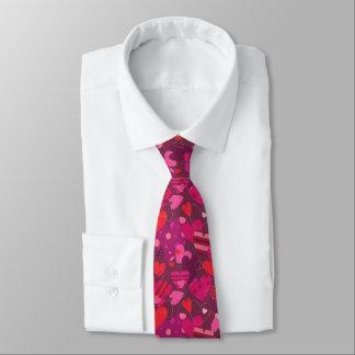 バレンタインデーのハートのタイ ネクタイ