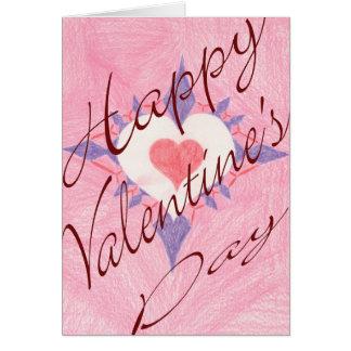 バレンタインデーのハート カード