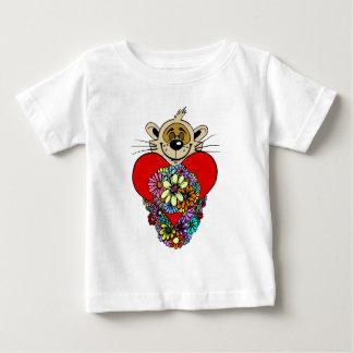 バレンタインデーのハート ベビーTシャツ