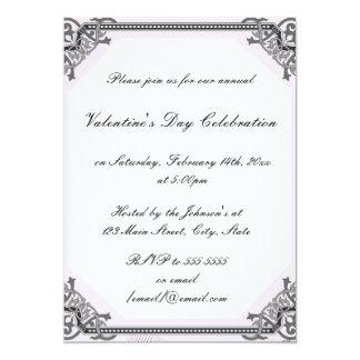 バレンタインデーのパーティのお祝いの招待状 カード