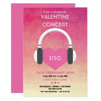 バレンタインデーのパーティの招待状のフライヤ カード