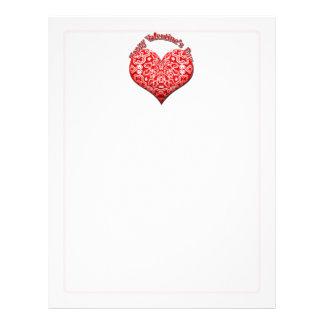 バレンタインデーのファンシーな赤いハート レターヘッド