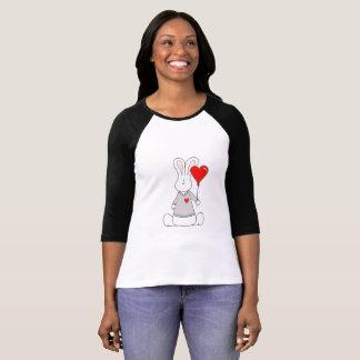バレンタインデーの女性の3/4枚の袖のRaglanのTシャツ Tシャツ