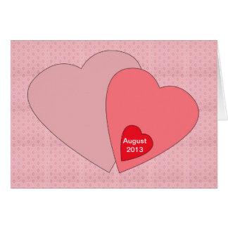 バレンタインデーの妊娠の発表カード カード