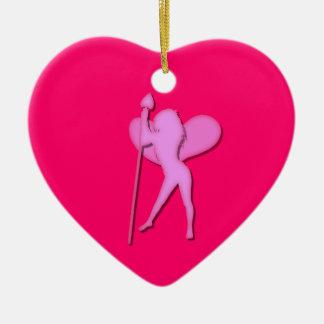 バレンタインデーの妖精 セラミックオーナメント