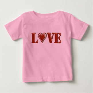バレンタインデーの愛 ベビーTシャツ