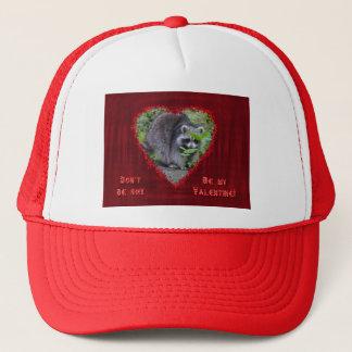 バレンタインデーの挨拶-内気なアライグマ キャップ