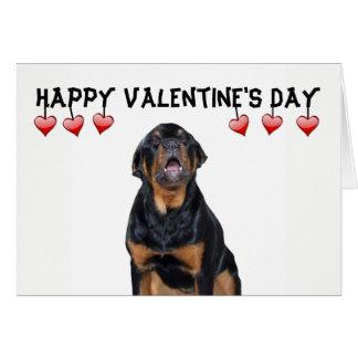 バレンタインデーの気難しいロットワイラーカード カード