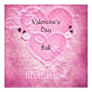 バレンタインデーの球の招待状 カード