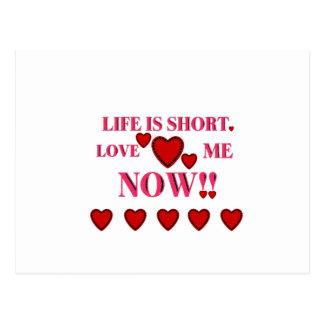 バレンタインデーの生命は短いです今愛します私を ポストカード