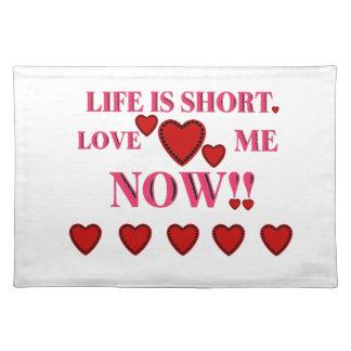 バレンタインデーの生命は短いです今愛します私を ランチョンマット