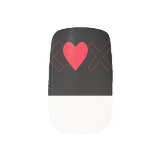 バレンタインデーのXoXoのネイルの先端 ネイルアート