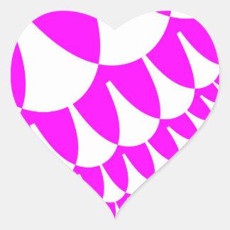 バレンタインデーはハートのステッカーをはかりで測ました ハートシール